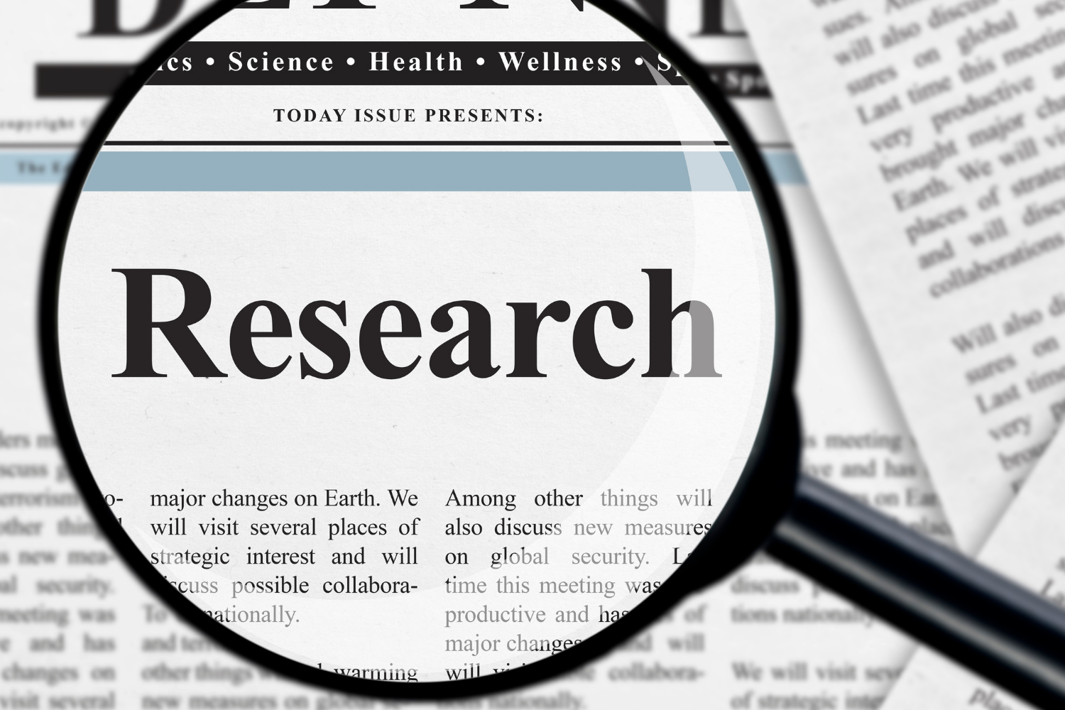 How do you research a blog?